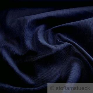 Stoff Baumwolle Cord dunkelblau Baumwollstoff Babycord Feincord