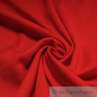 Stoff Polyester Strick rot querelastisch Pullover Kleider