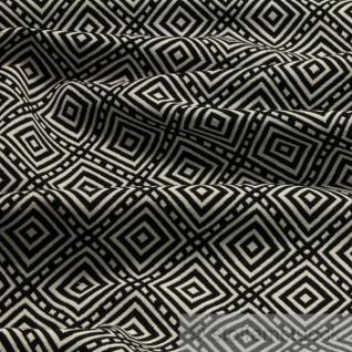 Stoff Baumwolle Polyester Jacquard Raute schwarz weiß weiß schwarz