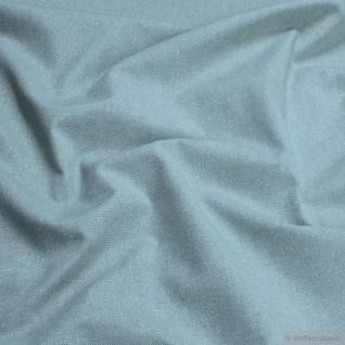 Stoff Baumwolle Polyester Rips pastelltürkis Glitzer breit Öko-Tex 100 280 cm