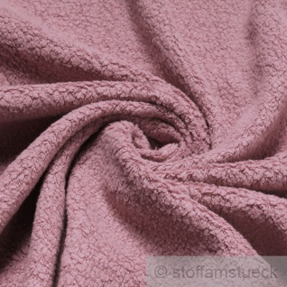 Stoff Baumwolle Polyester Fleece pastellrosa Baumwollfleece Plüsch kuschelig