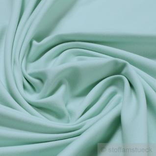 0, 5 Meter Stoff Baumwolle Elastan Single Jersey mint T-Shirt Tricot weich türkis