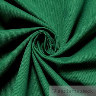 Stoff Baumwolle Köper grün flaschengrün fest robust stabil Jeans Baumwollstoff