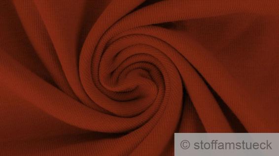 0, 5 Meter Baumwolle Elastan French Terry ziegelrot Sommer Sweat Jersey