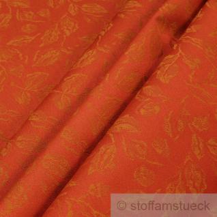 Stoff Polyester Jacquard Blätter rost 25.000 Martindale wasserdicht lichtecht