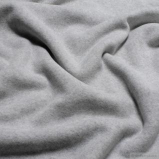 Stoff Bio-Baumwolle Fleece hellgrau Baumwolle organic cotton Baumwollfleece grau