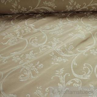 Stoff Baumwolle Polyester Jacquard beige Ranke 280 cm breit