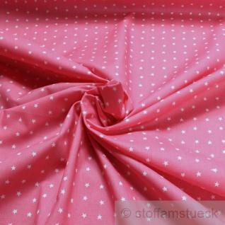 Stoff Kinderstoff Baumwolle Popeline Sternchen rosa weiß Stern