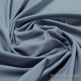 Stoff Baumwolle Elastan Single Jersey pastellblau T-Shirt Tricot weich dehnbar