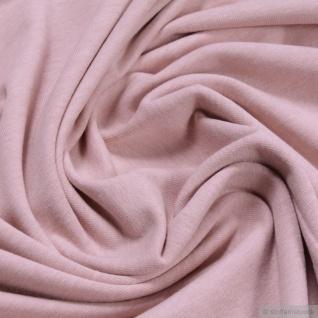 Stoff Bio-Baumwolle Elastan Single Jersey pastellrosa meliert kbA