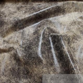 Stoff Polyester Kunstleder Antik braun waschbar weich knitterfrei