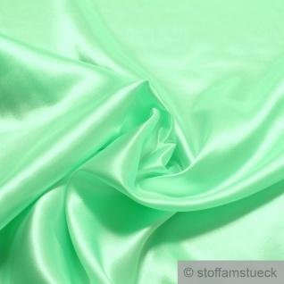 Stoff Polyester Satin hellgrün leicht blickdicht glänzend glatt pastellgrün