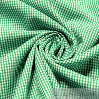 Stoff Baumwolle Vichy Karo klein grün weiß 1, 5 mm Swafing Canstein