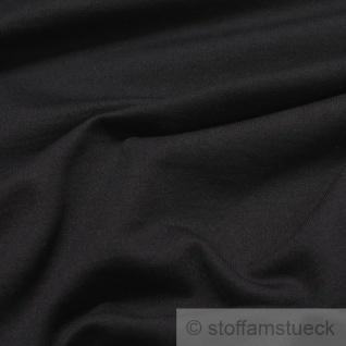 Stoff Baumwolle Single Jersey angeraut schwarz Sweatshirt weich dehnbar - Vorschau 2