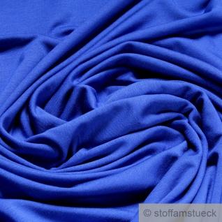 0, 5 Meter Stoff Bambus Elastan Single Jersey kobaltblau atmungsaktiv knitterarm