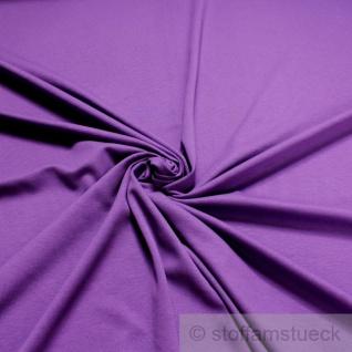 0, 5 Meter Stoff Baumwolle Interlock Jersey lila T-Shirt Tricot weich dehnbar