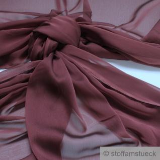 Stoff Polyester Changeant Chiffon weinrot transparent sehr leicht dunkelrot
