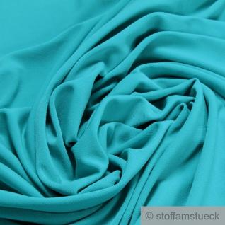 Stoff Polyester Elastan Interlock Jersey türkis leicht bi-elastisch