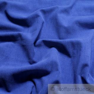 Stoff Baumwolle Cord kobaltblau Baumwollstoff Babycord Feincord