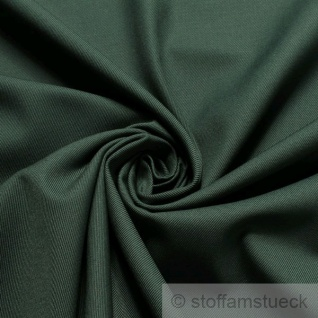 10 Meter Stoff Baumwolle Polyester Köper dunkelgrün grün fest robust Jeans