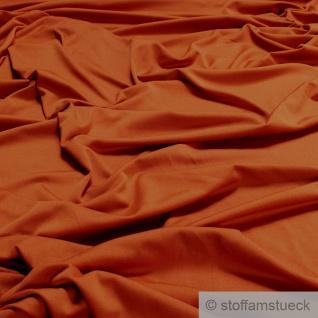 Stoff Polyester Elastan Interlock Jersey mango leicht bi-elastisch orange
