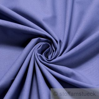 2 Meter Stoff Baumwolle Leinwand mittelblau blau Baumwollstoff