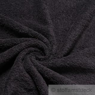 Stoff Baumwolle Frottee schwarz Frotté zweiseitig Baumwollstoff weich
