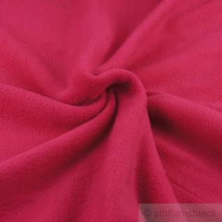 Stoff Polyester Fleece fuchsia warm weich