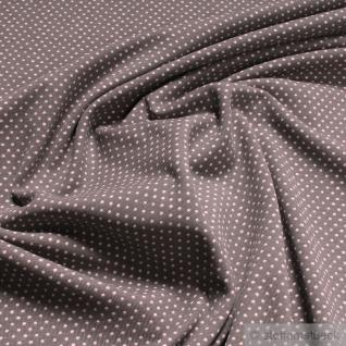 Stoff Baumwolle Lycra Single Jersey Punkte klein taupe rosa GOTS cloudburst