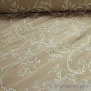 Stoff Baumwolle Polyester Jacquard elfenbein Ranke 280 cm breit