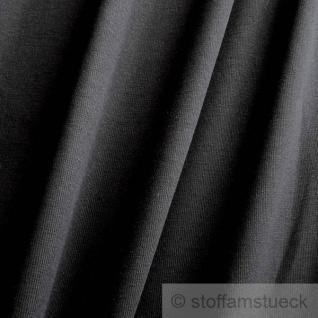 0, 5 Meter Baumwolle Elastan Bündchen schwarz kbA GOTS C. PAULI