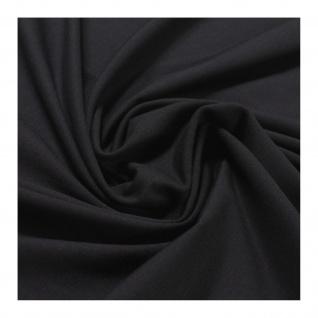 0, 5 Meter Stoff Baumwolle Elastan Single Jersey schwarz T-Shirt weich dehnbar