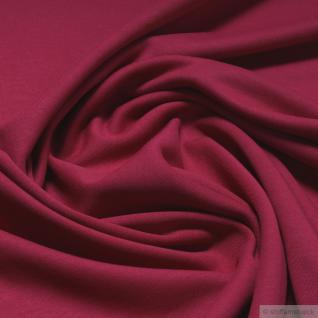 Stoff Baumwolle Interlock Jersey kirschrot T-Shirt Tricot weich dehnbar rot