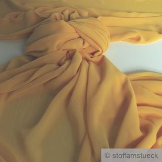 Stoff Polyester Chiffon gelb transparent leicht weich fallend