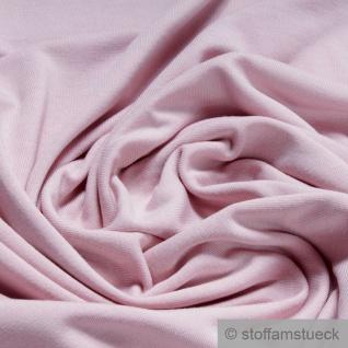 0, 5 Meter Stoff Bambus Elastan Single Jersey pastellrosa atmungsaktiv knitterarm rosa