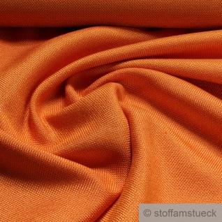 Stoff Schurwolle Polyester Leinwand orange knitterfrei Leinenoptik