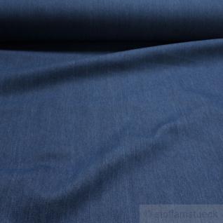 Stoff Baumwolle Köper Jeans blau vorgewaschen Jeansstoff Denim weich