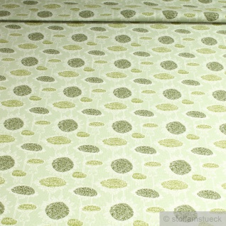Stoff Baumwolle Lycra Single Jersey pastellgrün Sonnenblume weich Oeko-Tex