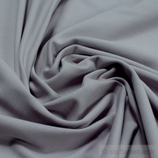 0, 5 Meter Stoff Baumwolle Elastan Single Jersey hellgrau T-Shirt weich dehnbar