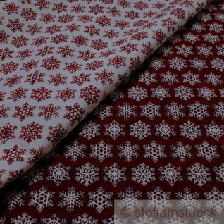Stoff Polyester Baumwolle Gobelin Schneeflocke Eiskristall