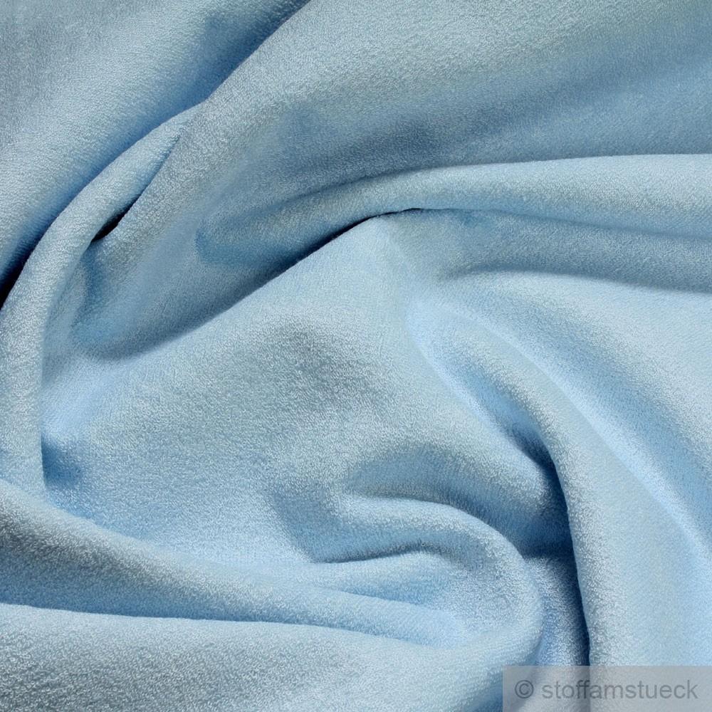 Stoff Baumwolle Bambus Frottee Hellblau Wickelauflage
