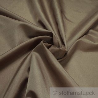 2 Meter Stoff Polyester Futter Taft braun Futterstoff