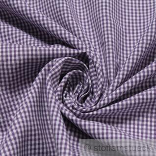 Stoff Baumwolle Vichy Karo klein lila weiß 1, 5 mm Swafing Canstein