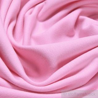 0, 5 Meter Stoff Baumwolle Elastan Single Jersey rosa T-Shirt weich dehnbar - Vorschau 2