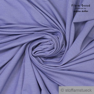 0, 5 Meter Bio-Baumwolle Polyester Elastan Single Jersey flieder Jeans Fibre Mood