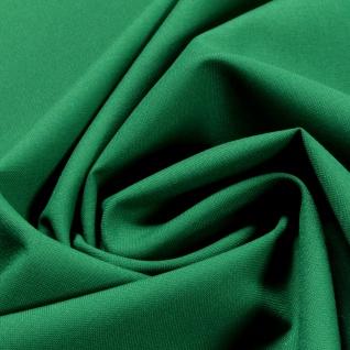 Stoff Polyester Schurwolle Leinwand grün knitterfrei