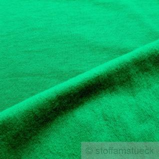 0, 5 Meter Stoff Baumwolle Single Jersey grasgrün angeraut Sweatshirt weich - Vorschau 2