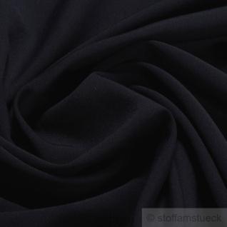 Stoff Polyester Schurwolle dunkelblau fein knitterfrei Mischgewebe