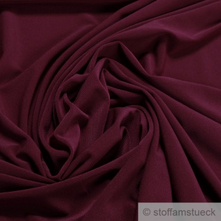 Stoff Polyester Elastan Interlock Jersey bordeaux leicht bi-elastisch dunkelrot