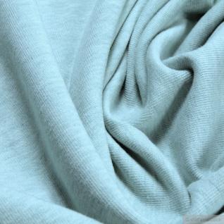 0, 5 Meter Stoff Bio-Baumwolle Elastan Single Jersey pastelltürkis meliert kbA - Vorschau 2
